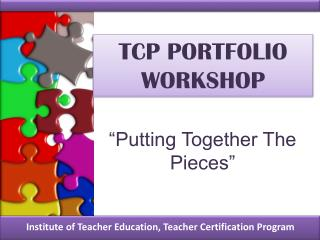 TCP PORTFOLIO WORKSHOP