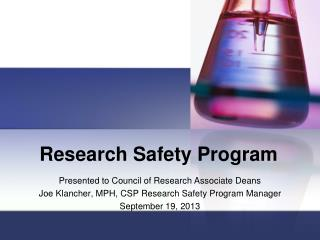 Research Safety Program