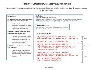 Handout to Virtual Solar Observatory (VSO) for Dummies