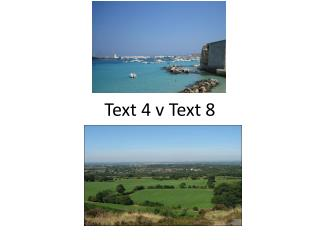 Text 4 v Text 8