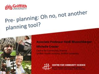 Pre- planning:  O h no, not another planning tool?