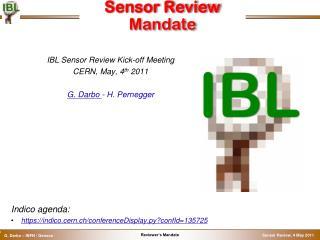 Sensor Review Mandate