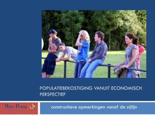 Populatiebekostiging vanuit  economIsch  perspectief
