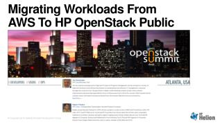 Migrating Workloads From AWS To HP  OpenStack  Public Cloud