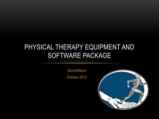 Physical Therapy Equipment and software Package
