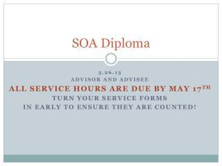 SOA Diploma