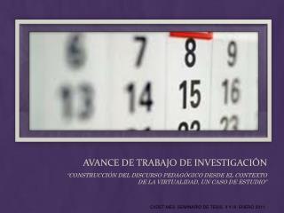 AVANCE DE TRABAJO DE INVESTIGACIÓN