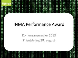 INMA  Performance Award