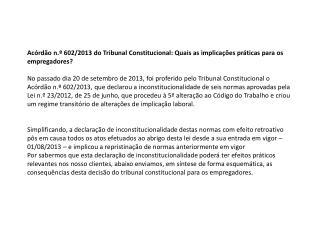 Ac . TC n.º 602/2013