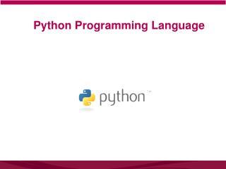Python Programming  L anguage