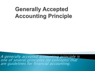 Generally Accepted Accounting Principle