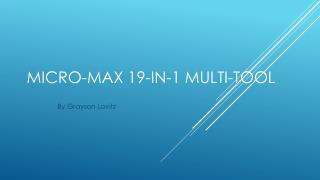 Micro-Max 19-in-1 Multi-tool