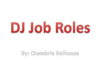 DJ Job Roles