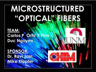 "MICROSTRUCTURED ""OPTICAL"" FIBERS"