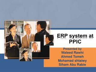 ERP system at PPIC