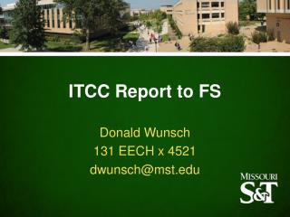ITCC Report to FS