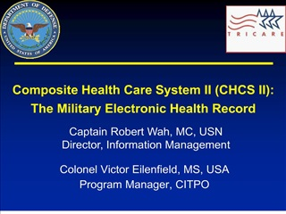 Colonel Victor Eilenfield, MS, USA Program Manager, CITPO