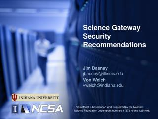 Science Gateway Security Recommendations