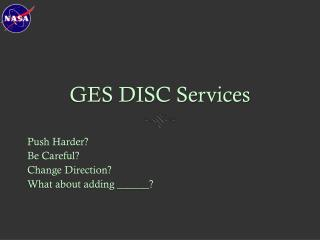 GES DISC Services