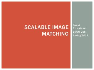 Scalable Image Matching
