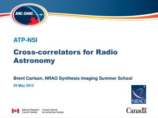 Cross- correlators  for Radio Astronomy