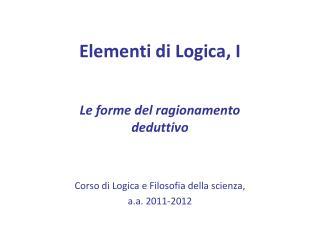 Elementi di Logica, I