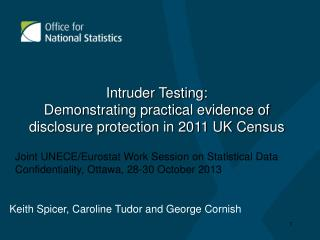 Intruder Testing:  Demonstrating practical evidence of disclosure protection in 2011 UK Census