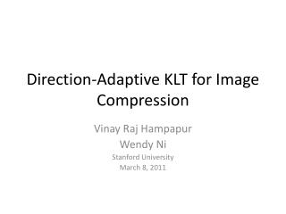 Direction-Adaptive KLT for Image Compression