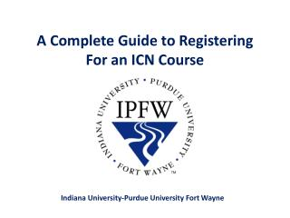 A Complete Guide to Registering For an ICN Course