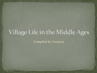 Village Life in the Middle Ages
