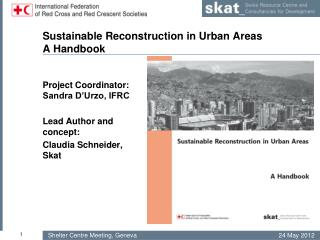 Sustainable Reconstruction in Urban Areas A Handbook