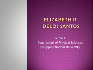 Elizabeth R. Delos Santos