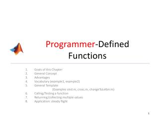 Programmer -Defined Functions