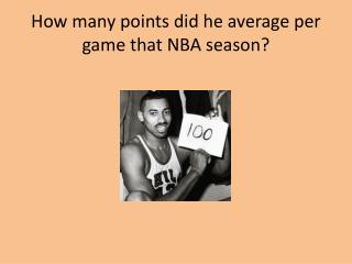 How many points did he average per  game that NBA season?