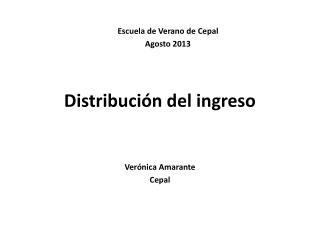 Distribución del ingreso