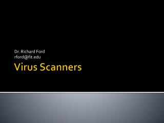 Virus Scanners