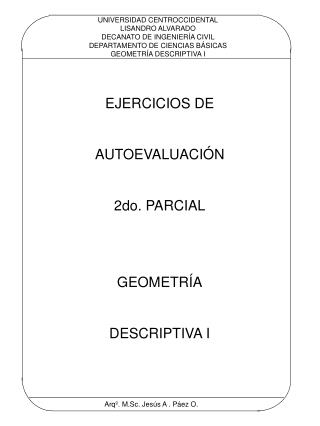 UNIVERSIDAD CENTROCCIDENTAL LISANDRO ALVARADO DECANATO DE INGENIER A CIVIL DEPARTAMENTO DE CIENCIAS B SICAS GEOMETR A DE