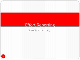 Effort Reporting