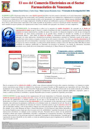 El uso del Comercio Electr nico en el Sector Farmac utico de Venezuela