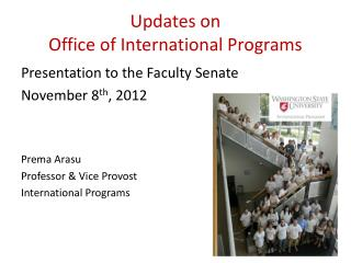 Updates on  Office of International Programs