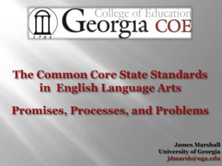 James  Marshall University of Georgia jdmarsh@uga.edu