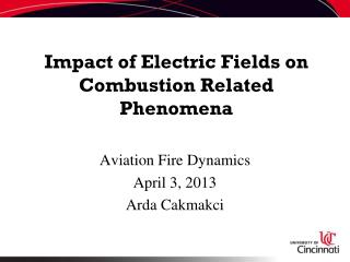 Impact of Electric Fields on Combustion Related Phenomena