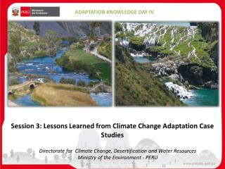 Directorate for Climate C hange ,  D esertification and  Water R esources