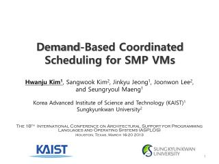 Demand-Based Coordinated Scheduling for SMP VMs