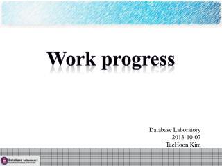 Database Laboratory 2013-10-07 TaeHoon  Kim