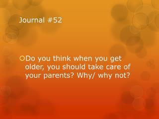 Journal #52