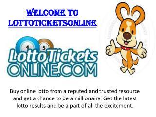 Get Megamillions Tickets