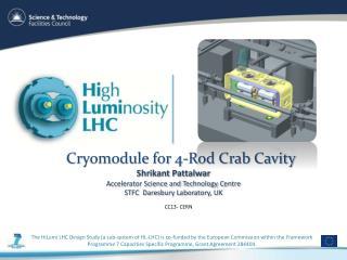 Cryomodule for 4-Rod Crab Cavity