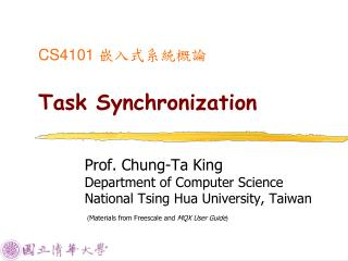 CS4101  ??????? Task Synchronization