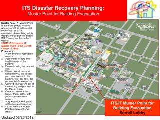 ITS Disaster Recovery Planning:   Muster Point for Building Evacuation